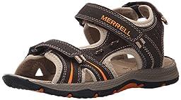 Merrell Panther Water Sandal (Toddler/Little Kid/Big Kid), Brown/Black, 6 M US Big Kid
