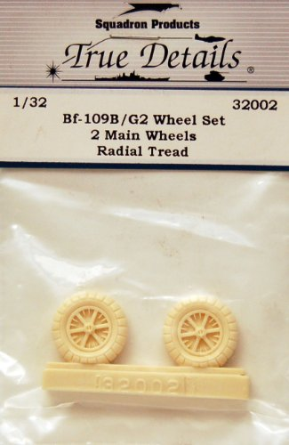 True Details Messerschmitt Bf 109B/G-2 Wheel Set