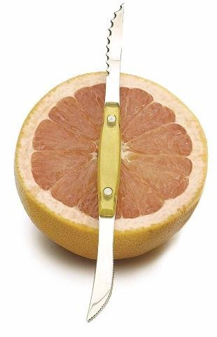 Endurance Stainless Acrylic Grapefruit Double Knife