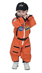 Aeromax Jr. Astronaut Suit with Embroidered Cap, Size 18Month - Orange