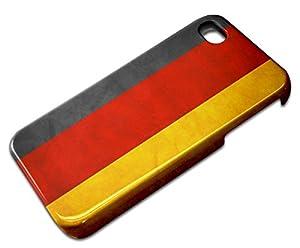 Drapeaux Allemagne 1, 3D Design Gloss Coque Arriere Rigide Coquille Housse Hard Case Shell avec l'Image Coloré pour Apple iPhone 4 4S.