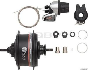 NuVinci N360 rear hub 36 hole black