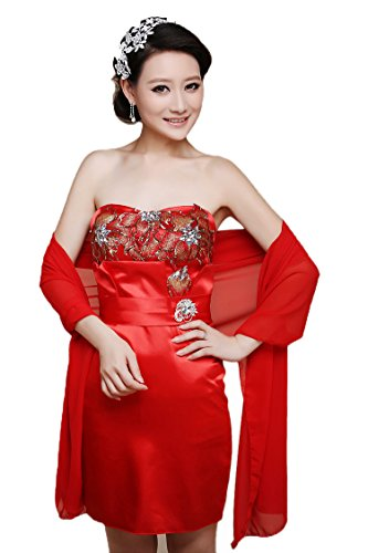 Beautygowns Women's Long Chiffon Bridal Evening Wraps Shawls Scarves Stole W12