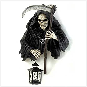 Grim Reaper Holding Candle Lantern