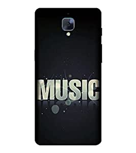 Music 3D Hard Polycarbonate Designer Back Case Cover for OnePlus 3 :: OnePlus Three