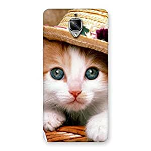 Ajay Enterprises Premium Cute Hats Cat Multicolor Back Case Cover for OnePlus 3