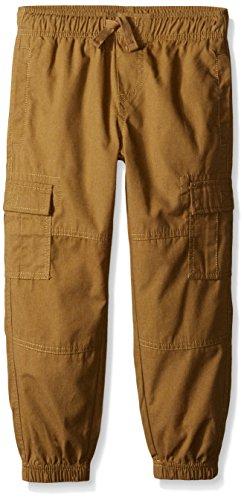 Nautica Little Boys' Pull On Jogger W/Cargo Pockets, British Khaki, 6