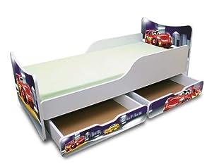 best for kids kinderbett 90x200 mit zwei schubladen cars iii k che haushalt. Black Bedroom Furniture Sets. Home Design Ideas