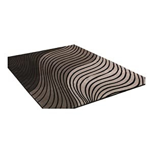 3 Sizes Available - Sincerity Modern - Ripple Grey/Black - Good Quality Modern Rug from Flair Rugs