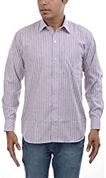 Major Sab Men's Casual Shirt MS7126L2_Purple_XL