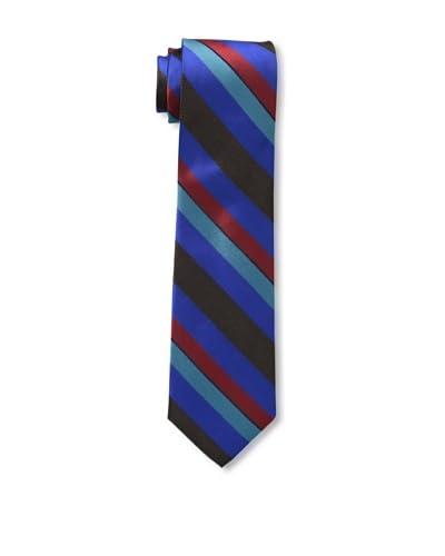 Ben Sherman Men's Wide Stripe Tie, Cobalt