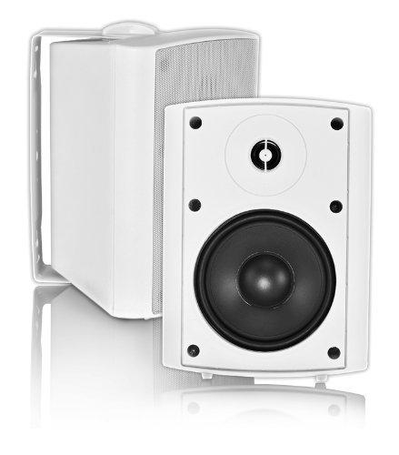 Osd Audio Ap520 White 5.25-Inch Indoor Or Outdoor 120-Watt Patio Speaker Pair