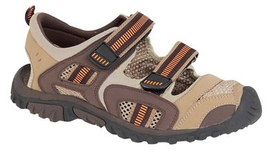 Mens Leather Closed Toe Velcro Sports Hiking Sandals Shoes Brown Size 7 8 9 10 11 12