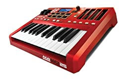 Akai Professional MAX25 | 25-Key USB MIDI Keyboard & Drum Pad Controller with CV/Gate Outputs (8 Pads / 4 LED Touch Faders)