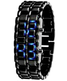 7 Weapons Fashion Creative LED Waterproof Mens Watch#black