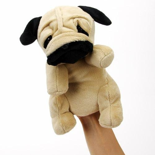 Hand Puppet pug HP pug dog stuffed puppet