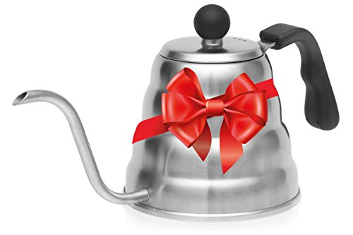 Christmas Sale! Pour Over Coffee Drip Kettle. Premium Stainless Steel Gooseneck Tea Kettle By Simple Kitchen Products.