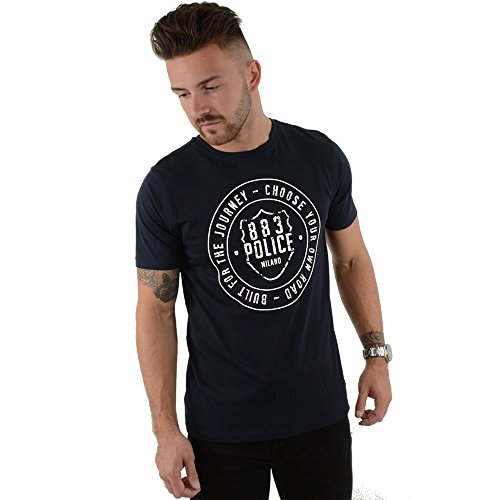 police-martell-4798-half-sleeve-graphic-t-shirt-small-navy