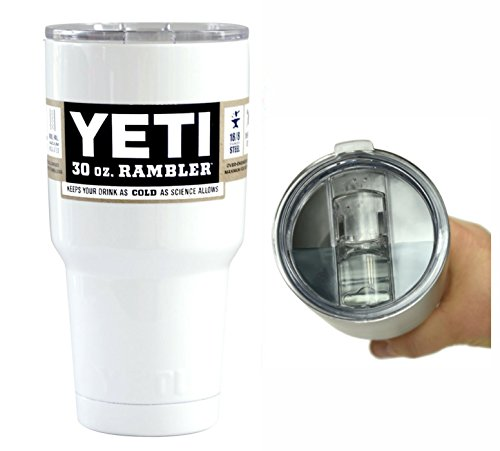 Yeti Coolers 30 oz Rambler Tumbler with Exclusive Spill Resistant Lid (White Gloss) (Yeti Cooler Beverage Holder compare prices)