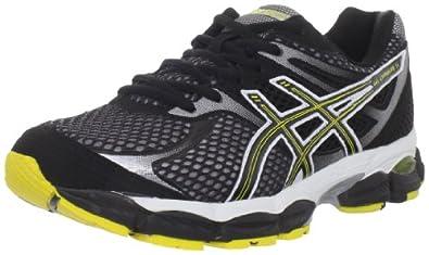 ASICS Men's GEL-Cumulus 14 Running Shoe,Onyx/Black/Yellow,8.5 M US