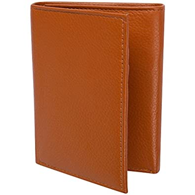 Access Denied RFID Blocking Leather Trifold Wallet-Tan