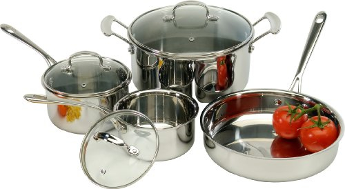 Excelsteel 7 Piece Triply 18/10 Stainless Steel Cookware Set
