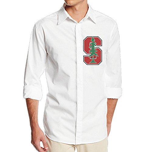 Stanford NF18G Men's Funny Long Sleeve Button Down Shirts - SizeXL White (Larry Hoover Shirts compare prices)