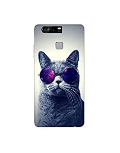 huawei p9 nkt-04 (16) Mobile Case by Mott2 - Cat with Glasses