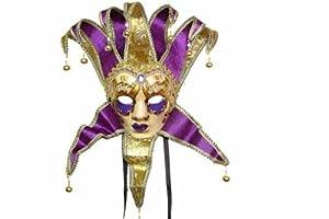 Deluxe Purple Women's Jester Mask