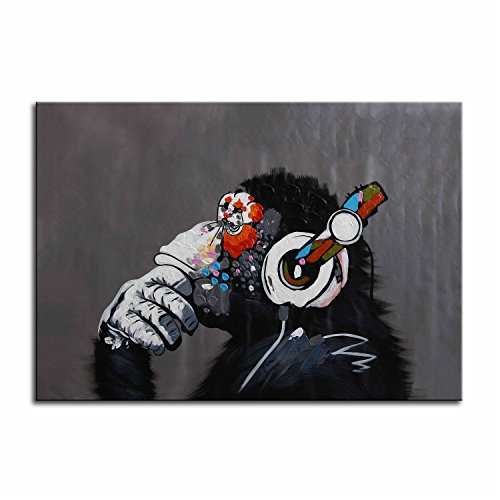 art-paintingraybre-artr-100-hand-painted-oil-paintings-on-canvas-monkey-with-headset-wall-art-for-li