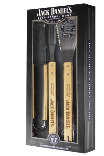 Jack Daniel's 30001 Aged Barrel Wood Grilling Tools