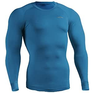 emFraa Homme Femme Compression thermal Ski Base layer Shirt manches longues S