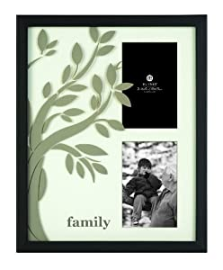 Burnes of Boston 513002 Family Tree 2 Opening Picture Frame, 4-Inch by 6-Inch, Black