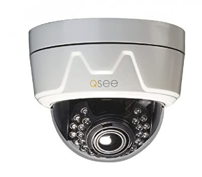 Q-See QD6507D High-Resolution Weatherproof 650TVL Resolution Camera with 100-Feet Night Vision (White)
