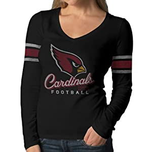 NFL Arizona Cardinals Women's Homerun Long Sleeve Tee, Small, Jet Black
