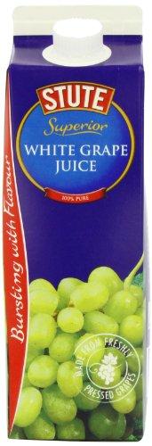 Stute 100 Percent Pure White Grape Juice 1 litre (Pack of 8)
