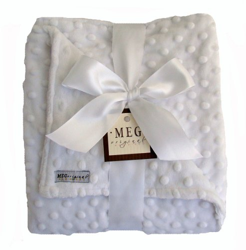 Meg Original Snow White Minky Dot Blanket