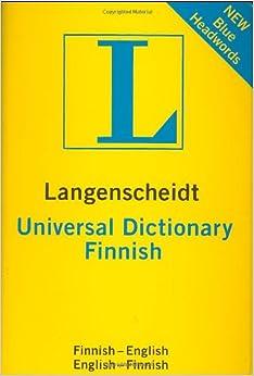 Universal Dictionary Finnish (Langenscheidt Universal): Langenscheidt Editorial: 9781585735822 ...