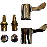 The Plumbers Merchant Robinets 1/4 de tour et kit de rénovation avec embouts 13 mm pour salle de bain