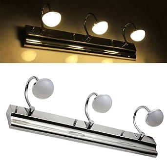 9w 18 led smd5630 ac90 240v spiegelleuchte badlampe wandleuchte warmwei hell us101. Black Bedroom Furniture Sets. Home Design Ideas