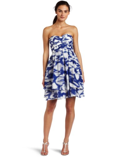 Jessica Simpson Women's Strapless Printed Dress
