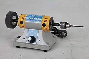 Hengwei TM-2 350W 0-10000r/min Adjustable Jewelry Rock Polishing Buffer Machine Bench Lathe Benchtop Polisher Took Kit 110V