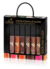 SHANY Cosmetics SHANY Cocolicious Lip Gloss Set No.1 Chocolate Shades Aloe Vera and Vitamin E, 6…