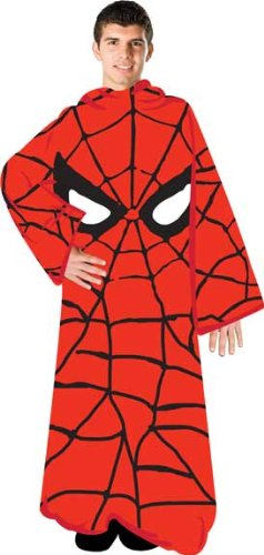 Spiderman Marvel Comics Adult Snuggler Fleece Throw Blanket With Sleeves