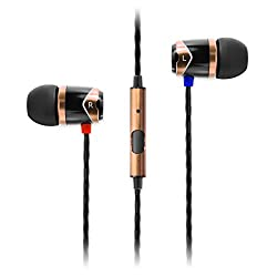 Soundmagic E 10S In-Ear Headphones with Mic (Gold)