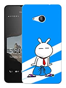 "Humor Gang Cartoon Cat Dancing Printed Designer Mobile Back Cover For ""Nokia Lumia 550"" (3D, Matte, Premium Quality Snap On Case)"