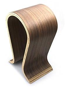 Wooden Omega Headphones Stand/Hanger/Holder - Walnut Finish