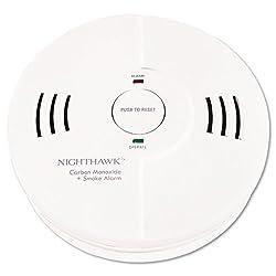 """Kidde - Night Hawk Combination Smoke/CO Alarm w/Voice/Alarm Warning - Sold As 1 Each - Warnings spoken in loud-volume voice: """"Fire, Fire!"""" or """"Warning! Carbon Monoxide!"""" from Kidde Products"""