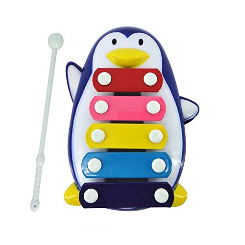 Geekercity Baby Kids Kid 5-Note Xylophone Music Box Toys IQ Wisdom Development Penguin Musical Toys (Blue) (Dirt Quad Controller compare prices)