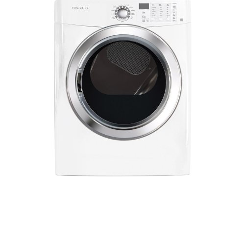 Frigidaire Ffse5115Pw 7.0 Cu. Ft. Classic White Stackable With Steam Cycle Electric Dryer